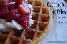 Overnight Waffles - the BEST waffles  @yourhomebasedmom.com  #waffles,#breakfast