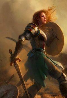 St, Joan of Arc my patron saint.  I love how she is simultaneously powerful and feminine
