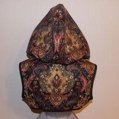 Gorgeous fabric, isn't it? SCANDALOUS Steampunk Hoodie Bolero Shrug Jacket by loriann37