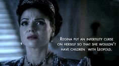 """We'll find out why Regina never had a child of her own. 