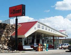 Route 66 Diner -- classic 50's road architecture.