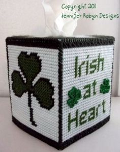 free designs for plastic canvas crafts | year everyone is Irish at heart! This cute little Free Plastic Canvas ...