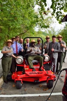 Great Smoky Mtns NP uses cleaner-burning propane autogas in their mowers! (This is my favorite photo of ALL time. Domestic Cleaners, Smoky Mtns, Great Places, Four Square, All About Time