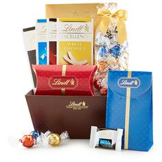 Celebrations Gift Basket - Best-Selling Assortment | Lindt Gift Baskets & Towers #GiveLindt #Contest .This has so many of my favorite.
