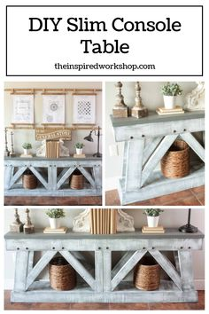 DIY Slim Console Table
