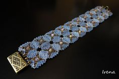 This is the Double Diamondback Bracelet without the middle beads. Makes it look for flowery.