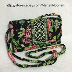 VERA BRADLEY Strap Wallet Messenger Crossbody Purse Handbag BOTANICA