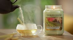 Invigorate your senses with our #YankeeCandle Lemongrass & Ginger scented candle. #YankeeCandleOfficial #RivieraEscape
