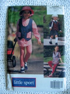 Vogue Little Sport Girls Dress Top and Leggings by Vntgfindz