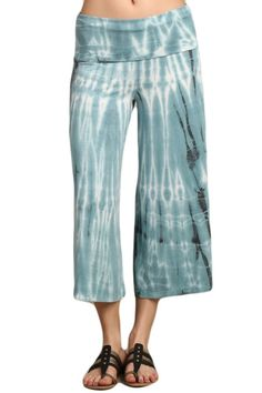 e93dd42ade3a6 Tie dye gaucho pants with fold-over waistband. Each item is HAND-DYED