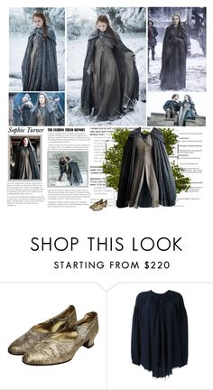 """""""Sophie Turner as Sansa Stark. {Game of Thrones - Seasons 5-6 }"""" by albacampbell ❤ liked on Polyvore featuring Episode and Raquel Allegra"""