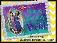 Disney Descendants Edible cake image DIGITAL by AkireJeanCreations