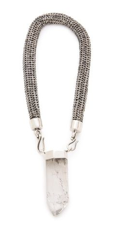 The pendant on this Mania Mania Monteray necklace balances out the industrial feel with a strong element $360, get it here: http://rstyle.me/~o7Aj