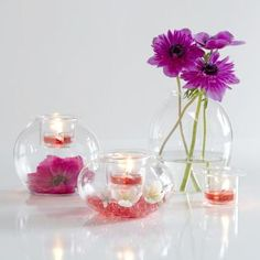 So many decorating ideas with this set! Silk flowers, candles, home decor, centerpieces
