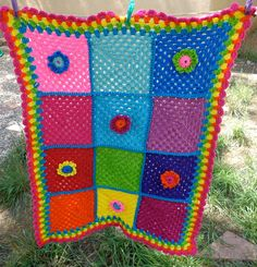 beautifu rainbowl baby blanket by THEDIVINELILY on Etsy, $150.00