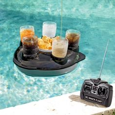 Remote control snack & drink pool float