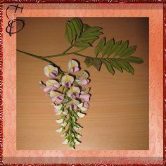 Gumpaste (fondant, polymer clay) Wisteria (Wistaria) flower making tutorials
