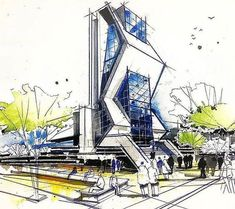 Interesting Find A Career In Architecture Ideas. Admirable Find A Career In Architecture Ideas. Architecture Art Nouveau, Architecture Concept Drawings, Futuristic Architecture, Architecture Plan, Amazing Architecture, Interior Architecture, Barcelona Architecture, Architecture Sketchbook, Classical Architecture