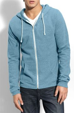 Threads for Thought Hoodie in Aqua $49.50