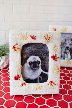 DIY Embroidered Photo Frame