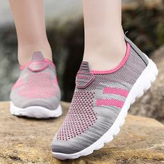 Big Size Mesh Comfortable Slip On Flat Casual Soft Shoes Trendy Shoes, Casual Shoes, Types Of Shoes, Alter, Shoes Online, Athletic Shoes, Mesh, Slip On, Heels