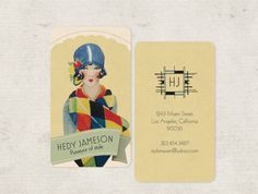 Art Deco Flapper Calling Cards  Business Cards  by GoGoSnap