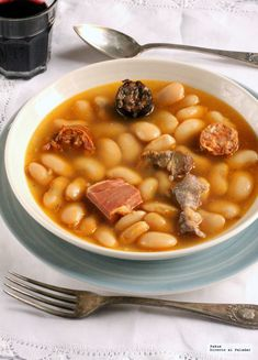 Mexican Food Recipes, Ethnic Recipes, Spanish Food, Spanish Recipes, Chana Masala, Cheeseburger Chowder, Beans, Food And Drink, Vegetables