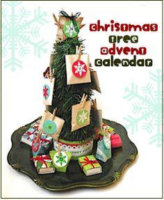 "Creative ""Try""als: Christmas Tree Advent Calendar"
