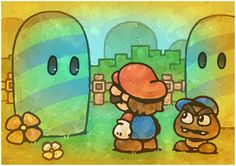 Paper Mario Watching by Louivi on DeviantArt Paper Mario 64, Super Mario Smash Bros, Mundo Super Mario, The Hills Have Eyes, Nintendo, Video Game Art, Video Games, Mario And Luigi, Mario Brothers