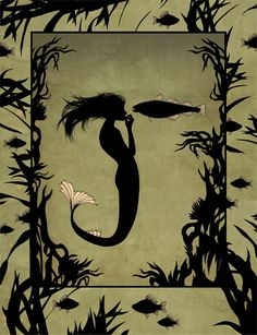 "Hans Christian Andersen ""The Little Mermaid"" by Natalia Akimova, via Behance #illustration"