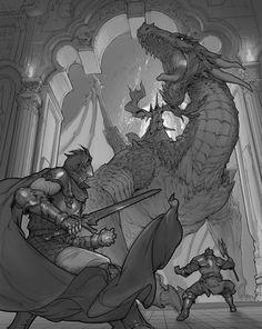 ArtStation - Gate Of Dragon, Xiaosheng Bai