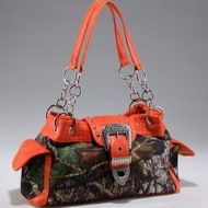 Mossy Oak (R) camouflage buckle accent shoulder bag handbag Q311-DC-MT1-51747B MO/OR