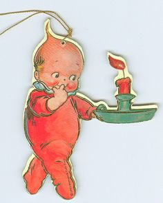 Kewpie Die cut by contrarymary, via Flickr Vintage Greeting Cards, Vintage Christmas Cards, Retro Christmas, Christmas Art, Vintage Postcards, German Toys, Baby Tattoos, Scrapbooking, Bisque Doll