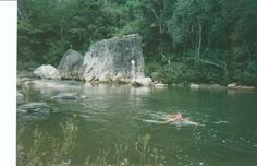 Swimming up high in the Belize rain forest near Black Rock Lodge