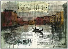 venice - Mixed media art