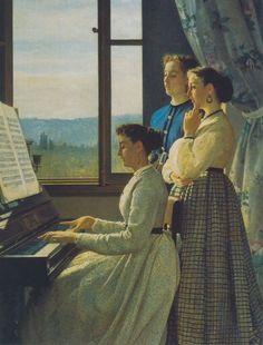 Mulher ao piano de Macchiaioli