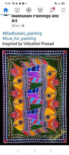 Madhubani Art, Madhubani Painting, Doodle Art Drawing, Art Drawings, Indian Folk Art, Painted Clothes, Bottle Painting, Tribal Art, Great Artists