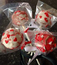 My homemade valentines cake pops