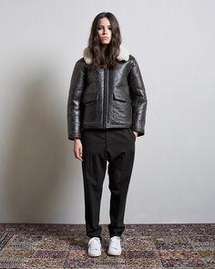 R13 / Shearling Flight Jacket Hope / Law Trouser Isabel Marant Étoile / Bart Sneaker #lagarconneatelier
