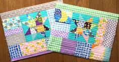 chick chick sewing: Quilt-as-you-go scrappy star panels & My free patterns at Kokka-online site☆ Irome 生地を使ってミシンピーシング&kokka さんのサイトで無料レシピ公開中です☆