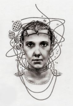 Eleven - Stranger Things by Blue-Tiger-Art on DeviantArt Stranger Things Season 3, Stranger Things Funny, Eleven Stranger Things, Tiger Art, Blue Tigers, Brown Art, Cyberpunk Art, Millie Bobby Brown, Life Drawing