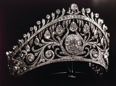 Diamond Kokoshnik by Cartier, which was commissioned by Grand Duchess Vladimir for the marriage of her only daughter, Elena, to Prince Nicholas of Greece.