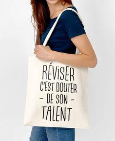 Totebag Femme Réviser C'est Douter Naturel by Madame TSHIRT