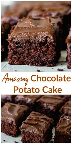 Chocolate Potato Cake Incredibly moist sweet and fudgy its mixed in the food processor! The chocolate peanut butter frosting is just literally the icing of this fabulous cake. Chocolate Potato Cake, Chocolate Peanut Butter Frosting, Chocolate Desserts, Chocolate Art, Chocolate Heaven, Cupcake Recipes, Cupcake Cakes, Dessert Recipes, Cupcakes