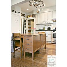 Fabulous DIY Farmhouse Kitchen Islands - The Cottage Market