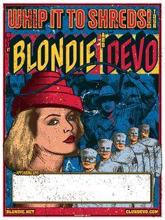 Show Posters - Blondie - Devo