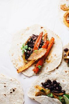 Quick & delicious Black Bean Vegetarian Fajitas