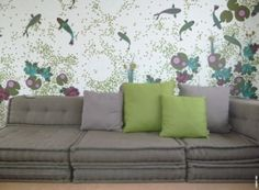 divano con materasso riciclato