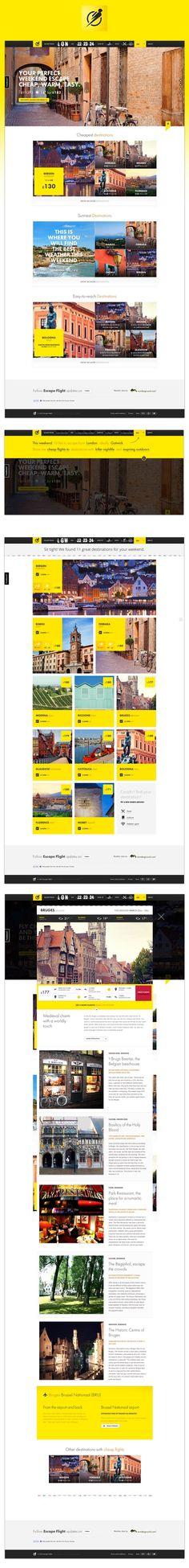 Escape Flight #website #webdesign #inspiration #yellow #travel