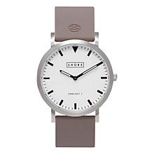 Buy Shore Projects W002S028 Unisex Poole Silver Plated Silicone Strap Watch, Grey/White Online at johnlewis.com